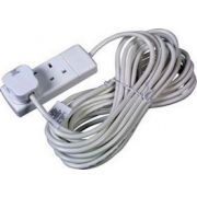 13 Amp 2 Gang Extension Socket C/W 2M Lead