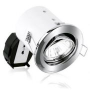 Aurora GU10 Adjustable Fire Protected Downlight - Polished Chrome