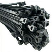 200mm X 4.8mm Cable Ties Black (100)