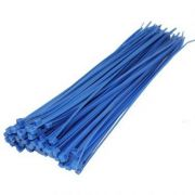 300mm X 4.8mm Cable Ties Blue (100)