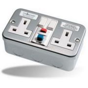 Timeguard RCD Double Metal Socket