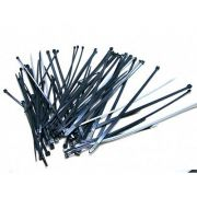 TAKBRO 140MMX3.6MM CABLE TIES BLACK 100PK NYLON 66 MATERIAL UL APPROVED CT2B