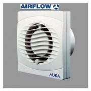 "Airflow Aura 100mm/4"" PULLCORD Slim WC Toilet Bathroom Wall/Ceiling Fan (UK)"