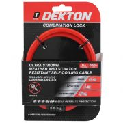 DEKTON 8MM X 650MM COMBINATION BIKE LOCK, DT70310