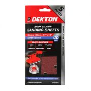 DEKTON 5PC HOOK AND LOOP SANDING SHEETS 93MMX, DT80752