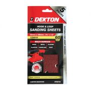 DEKTON 5PC HOOK AND LOOP SANDING SHEETS 93MMX, DT80754