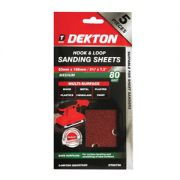 DEKTON 5PC HOOK AND LOOP SANDING SHEETS 93MMX, DT80756