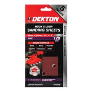 DEKTON 5PC HOOK AND LOOP SANDING SHEETS 93MMX, DT80758