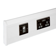 170mm X 50mm 3 Compartment Skirting Trunking