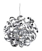 Firstlight Chrome Ribbon Pendant with Lamps