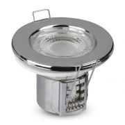 V-TAC VT8180 5W Dimmable Spotlight Fire rated Fitting Samsung Chip 6400K - Chrome Body (VT-885)