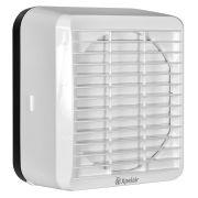 """Xpelair GX6 EC3R RF 6"""" 2 Speed EC3 Kitchen Axial Extract Fan with Manual Pullcord Shutter Operation, 92732AW"""