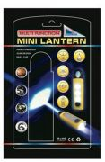 Lighthouse LED TORCH/MINI LANTERN WITH CARABINER CLIP